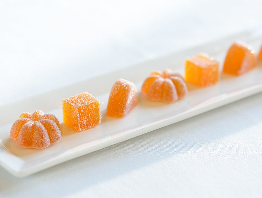 Orange Sweets on a plate
